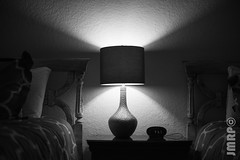 _JAM8067 (Jamil D750) Tags: lamp blackandwhite night nightstand bed clock nikon nikond750