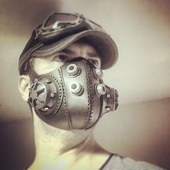 It looks like this. #Cyberpunk #CyberGoth #postapocalyptic #postapocalypse #steampunk #steampunkmask #leathermask #handmade #LARP #dieselpunk #leather #Darkart #costume #larping (tovlade) Tags: face mask cyberpunk cyber goth make up goggles girl punk postapocalyptic postapocalypse black steampunk leather hand made larp cybergoth dieselpunk plague doctor