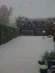 The backgarden... (NeilStephenson) Tags: snow snowman neil stephenson neilstephenson snowbabe