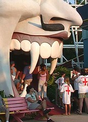 The lethal jaws of Dante's Inferno, Miracle Strip Amusement Park, Panama City Beach, Florida (stevesobczuk) Tags: seaside florida amusementpark panamacitybeach miraclestrip redneckriviera us98 frontbeachrd