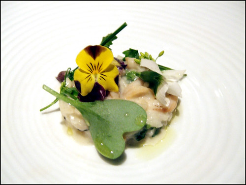 Manresa (Los Gatos) - Risotto w/ Flowers, Surf Clams on the Plancha