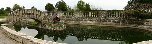 Pond in gardens next to Štanjel, Slovenia