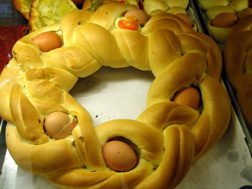 Easter bread... seems like the shells would add a level of difficulty