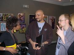 PatinaJohnDamianJen (otherheroes) Tags: eye art comics other african exhibition american comix heroes trauma