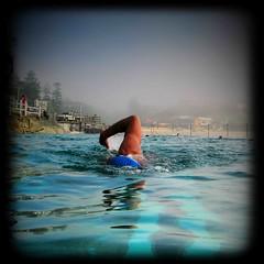 Blue Cap (estelucy) Tags: beach pool swimming sydney australia bronte laps oceanpool brontebeach