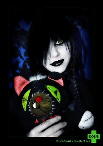 _Her_cute_cat_