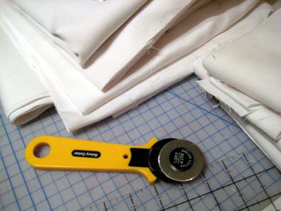 Fabric cutting...