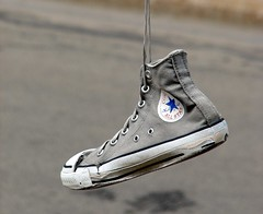 Sun Dried Converse (wouldpkr) Tags: shoe il canvas converse dekalb allstar hung chucktaylor weatherd