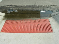 DSCN2654 (tellevision) Tags: red puddle grate step curb potential endless