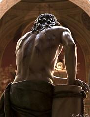 Cristo en el paso de la Flagelacion. Zaragoza (Jorge Ses (ASemTa Fotografa Cofrade)) Tags: santiago interior iglesia olympus zaragoza fotos paso mia e300 cris