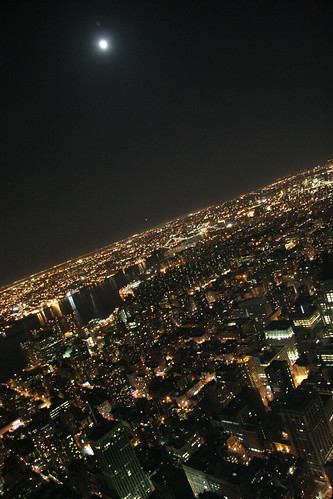 NY under the moon