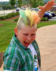 The Tri-Hawk!!! (lifeasiseeit) Tags: boy crazy matthew extreme hairdo mohawk colored trihawk hairdont