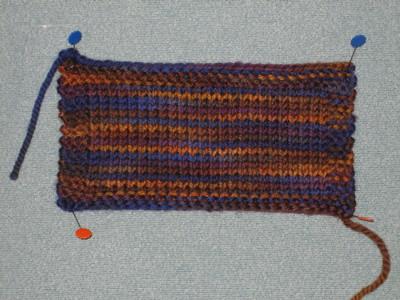 Hourglass Sweater swatch