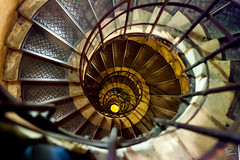 Arc de Triomphe steps (Julien CHARLES photography) Tags: arcdetriomphe europe france paris triumphalarch arch circulaire escalier metal stair stairs step steps tourbillon