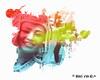 Girl splatter (myphotomailbox) Tags: rotterdam netherlands zomercarnaval photoshop art outdoor colors festival blaak girl splatter summercarnaval smile verfspatten spetters waterverf