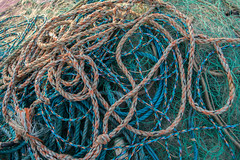 Ropes and Nets, Hastings Beach (Peter Cook UK) Tags: hastings beach fishing net sussex rope