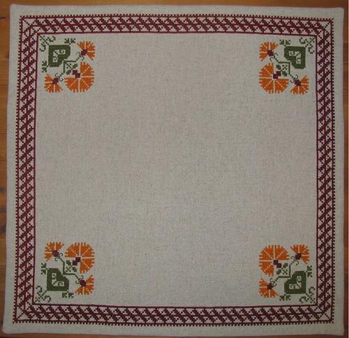 Cross Stitch Tablecloth Patterns Cross Stitch Baby Linen Clothes