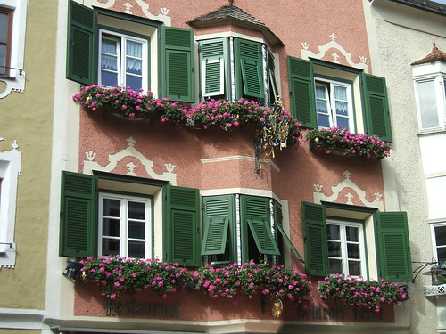 Flowered Windows, Vipiteno, Italy