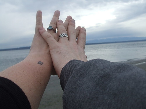 our hands at Golden Gardens