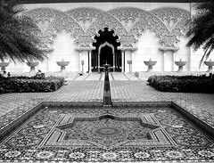 Moroccan Garden (seven years) Tags: white black fountain photoshop garden scott cs2 malaysia moroccan kelby