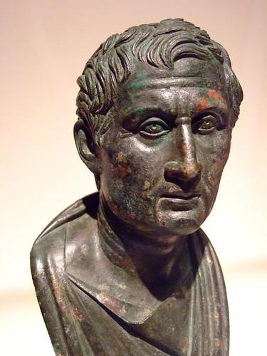 Bust of Menander Roman Bronze 1-25 CE (1)