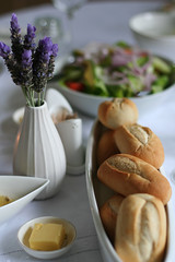Easter Lunch (macro girl) Tags: ikea easter table salad butter vase setting breadrolls