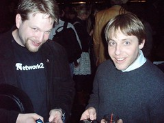 Chris Brogan and Andrew Baron (Drew Olanoff) Tags: nyc rocketboom andrewbaron chrisbrogan podcamp scriggity drewolanoff bestdamntech podcampnyc podcampny