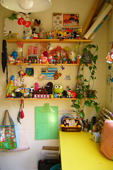 My Happy Place II (BrianinLR) Tags: chicken yellow toys hellokitty sewing tumor marge cookiemonster craftroom deerylou