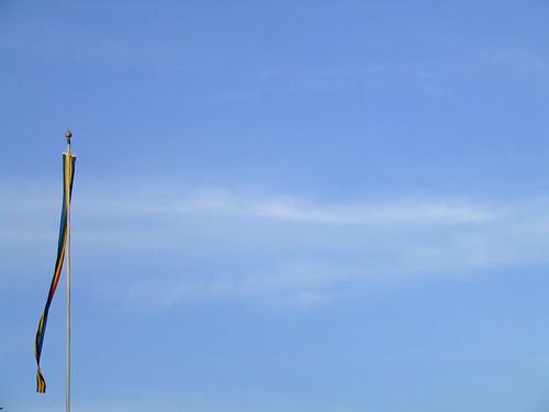 Foto de una bandera de Åland