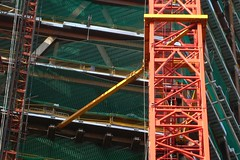 Broadgate Tower crane stabiliser