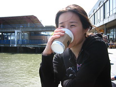 Coffee on the pier
