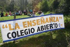 Pancarta desplegada en Santo Toribio 14 de abril de 2007