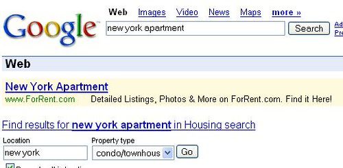 google base real estate search
