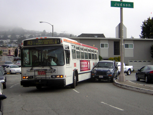 43 Muni bus accident in San Francisco