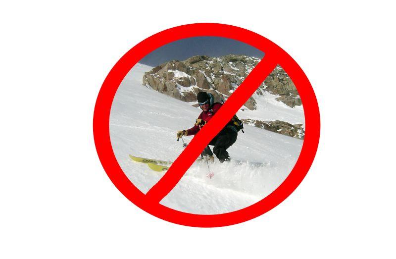 No Skiing