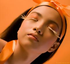 Anne (Cymer) Tags: orange beauty women lashes eyelashes filipina mycavelarde mycafeng maryanneabeled
