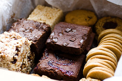 Treats Truck crispy squares, oatmeal jammies, brownies, creme sandwich cookies and chocolate chip cookies