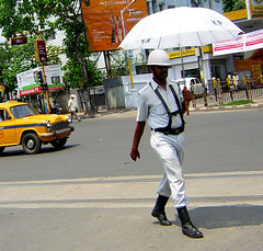 The fashion police (rita banerji) Tags: summer india police heat soe calcutta ritabanerji trafficconstable