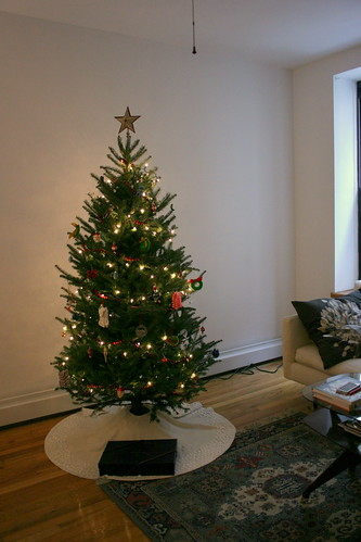 a terrible photo of our christmas tree