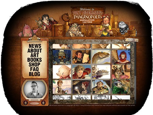 Tony DiTerlizzi flash site