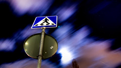 clouds at the crosswalk (-12C) Tags: motion night clouds 16x9 week6 d90 tokina1116mmf28 52of2009 5212of2009