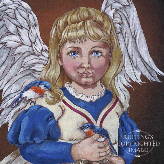 Bleuette Art Doll Original Painting on Poplar Wood by Max Bailey