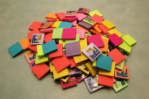 pile of postits