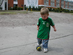 Nathan soccer/football at seminary