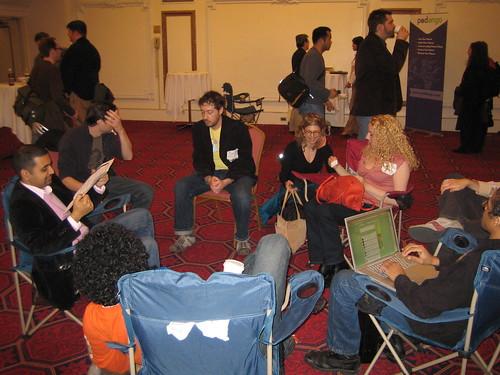 Mike, Anil, Justin, Debbie, Grace, Kenyatta, Bill & Eric @ PodCamp NYC, 2007