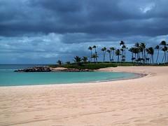 Hawaiian Lagoon 2 (heidi willis) Tags: blue trees sky beach water hawaii sand oahu lagoon palm koolina
