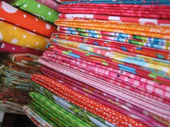 fabric.... (Messaround) Tags: blue fun polkadots fabric bibs sewingroom messaround