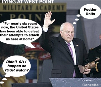 Cheney Lying at West Point