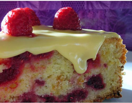 raspberry passionfruit cake