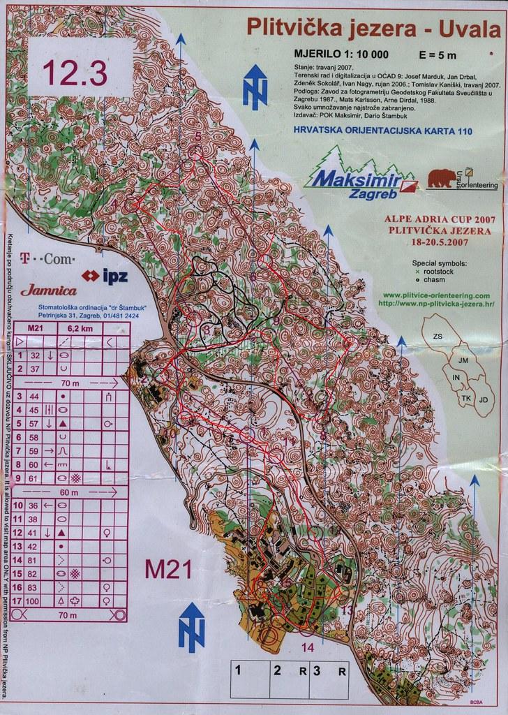 Alpok Adria Váltó - térkép